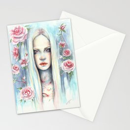 """""""Blossom"""" Watercolour Surreal Fantasy Nymph Stationery Cards"""
