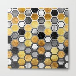 Hive honeycomb Metal Print