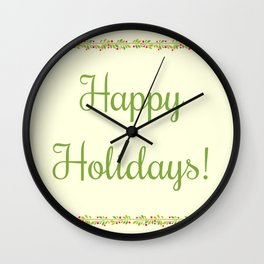 The Holidays Theme I Wall Clock