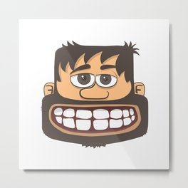 Tete Au Carre - square head. keep smile! Metal Print