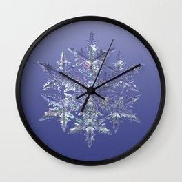 Fractal Snowflake Wall Clock
