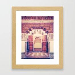 Moroccan Ornate Woodwork Doorway Fine Art Print Framed Art Print
