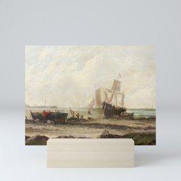 EDWINA W. LARA (FL. 1850-1882) -  seascape Mini Art Print