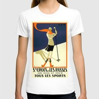sports T-shirts featuring LES SPORTS by Kathead Tarot/David Rivera