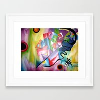 kandinsky Framed Art Prints featuring KANDINSKY - oil painting by Heaven7