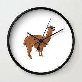 Vacation Alpaca Bag Funny Llama Wall Clock