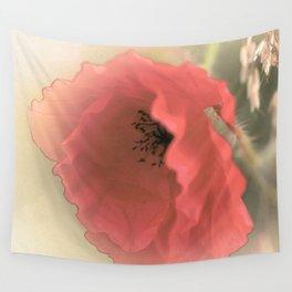 Poppies silken Wall Tapestry