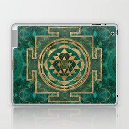 Sri Yantra  / Sri Chakra Malachite and gold Laptop & iPad Skin
