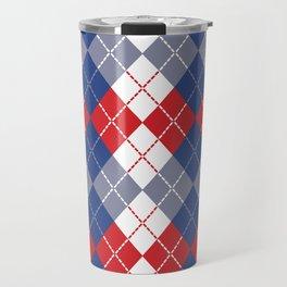 Patriotic Argyle Travel Mug