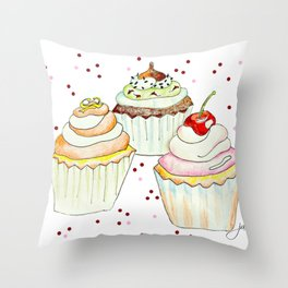 Sprinkles Bakery Throw Pillow