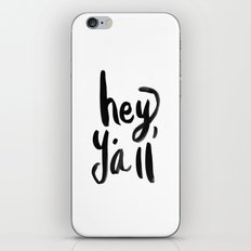 Hey Y'all brushed lettering iPhone & iPod Skin