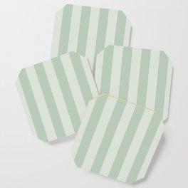 Green Stripes Coaster