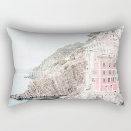 Positano, Italy pink-peach-white travel photography in hd. Rectangular Pillow