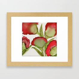 Red Flowers By Heather Hayes Framed Art Print