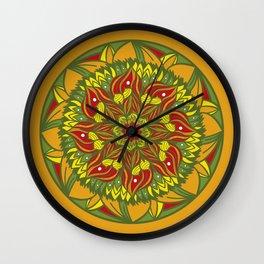 Summer mandala 4 Wall Clock