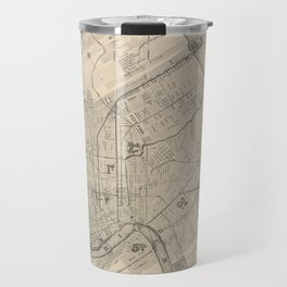 Vintage Map of New Orleans Louisiana (1885) Travel Mug