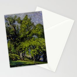 Chestnut Trees above a River Stationery Cards