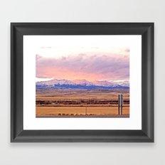 Those Crazy Mountains Framed Art Print
