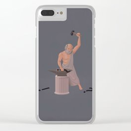 Socrates :The Doubt Maker. Clear iPhone Case