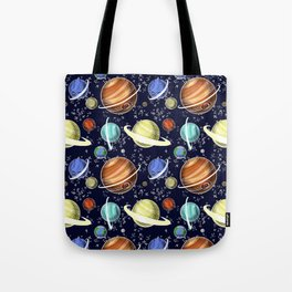 Planet Pattern Tote Bag
