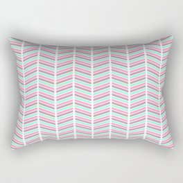 Geometrical neon pink turquoise modern chevron zigzag Rectangular Pillow