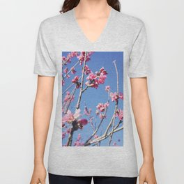 Blue Blossoms 03 Unisex V-Neck