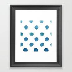 Drops. Framed Art Print