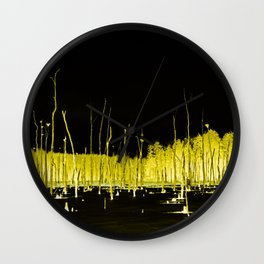 Yellow Forest Wall Clock
