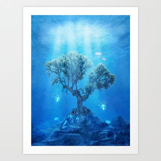 underwater tree Art Print