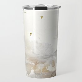 Loch Lovely Abstract Art in Cinnamon and Taupe Travel Mug