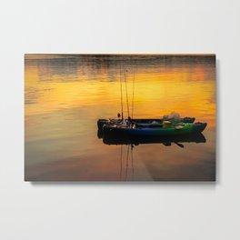 Canoes floating Metal Print
