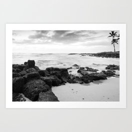 Dramatic coastline at Poipu beach in Kauai, Hawaii Art Print