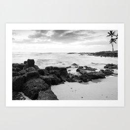 Dramatic coastline at Poipu beach in Kauai, Hawaii Art Print