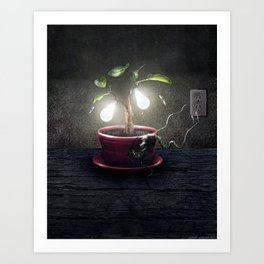 Chlorophyll Corona Art Print