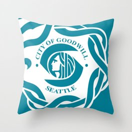 seattle  city flag united states of america  Throw Pillow