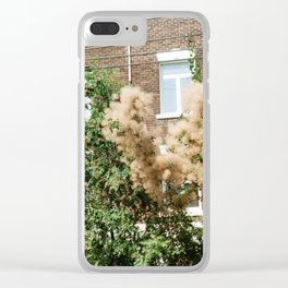pink fuzz Clear iPhone Case