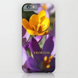 Krokusse 2 iPhone Case