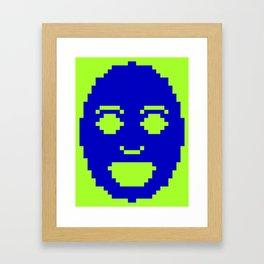 Pixel Face Framed Art Print