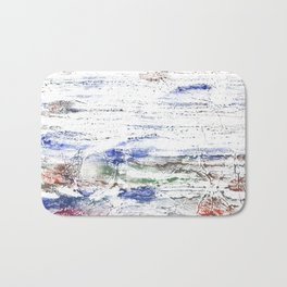 Multicolored clouded wash drawing painting Bath Mat