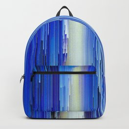 Frozen blue waterfall abstract digital painting Backpack
