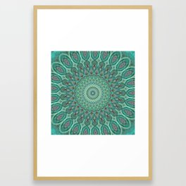 Mint Dreams Mandala Framed Art Print