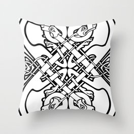 Celtic dogs 1 Throw Pillow