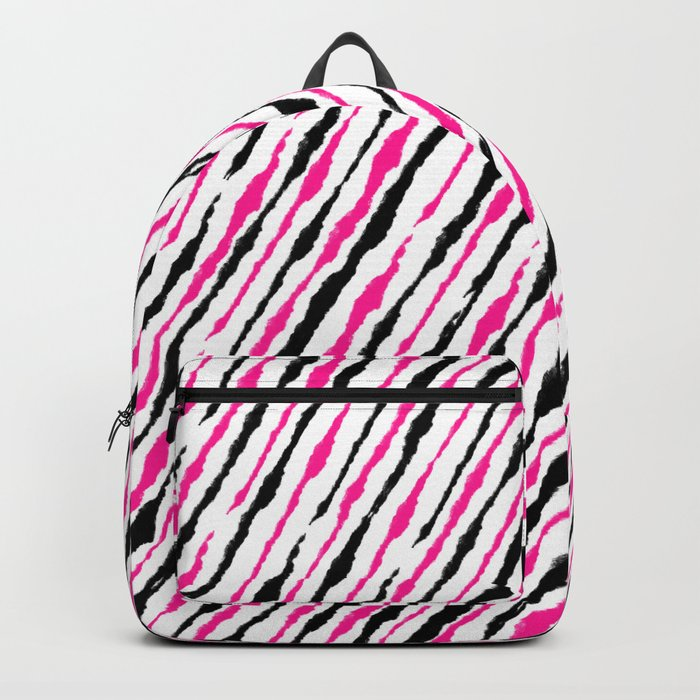 Pink and Black Pattern Backpack