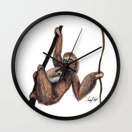 Three Toed Sloth Wall Clock