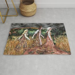 Maidens from the deep forest Rug