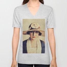Edna Purviance, Vintage Actress Unisex V-Neck