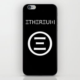 Ethereum Symbol (white on black) iPhone Skin