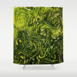 Mossy Swirls Shower Curtain