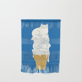 Cats Ice Cream Wall Hanging