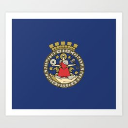 Flag of Oslo Art Print